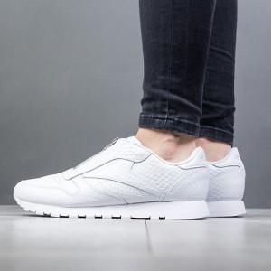 נעליים ריבוק לנשים Reebok Classic Leather Zip - לבן מלא