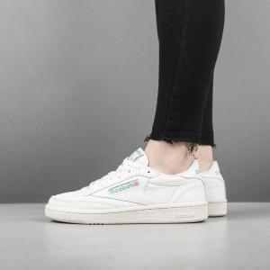 נעליים ריבוק לנשים Reebok Club C 85 Vintage Retro Sport - לבן/ירוק
