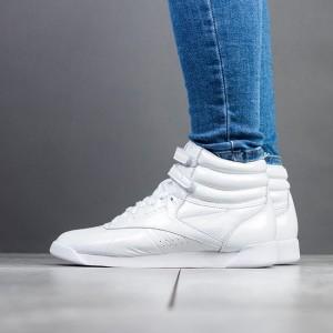 נעליים ריבוק לנשים Reebok Freestyle Hi Iridescent - לבן