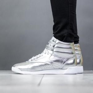 נעליים ריבוק לנשים Reebok Freestyle Hi Metallic - כסף