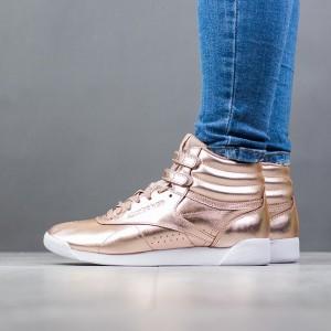נעליים ריבוק לנשים Reebok Freestyle Hi Metallic - ברונזה