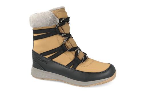 מגפיים סלומון לנשים Salomon HEIKA LEATHER CS WP - חום