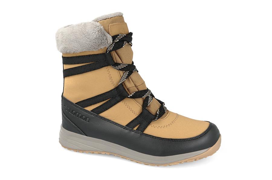 נעליים סלומון לנשים Salomon HEIKA LEATHER CS WP - חום