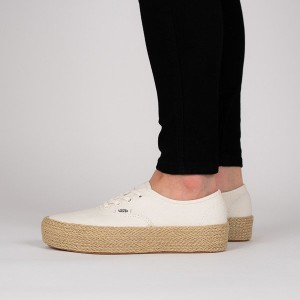 נעליים ואנס לנשים Vans Authentic Platform Marshmallow - לבן