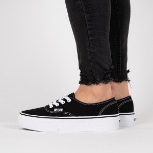 נעליים ואנס לנשים Vans Authentic Platform - שחור/לבן
