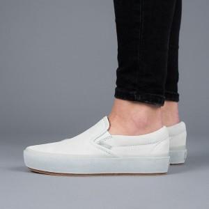 נעליים ואנס לנשים Vans Classic Slip On - לבן