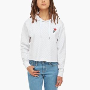בגדי חורף ואנס לנשים Vans Leila Check Pullover - לבן
