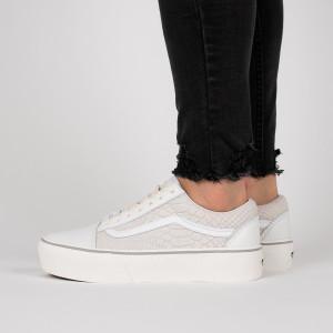נעליים ואנס לנשים Vans Old Skool Platform - לבן
