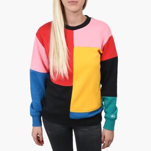 בגדי חורף ואנס לנשים Vans Patchwork Crew - צבעוני