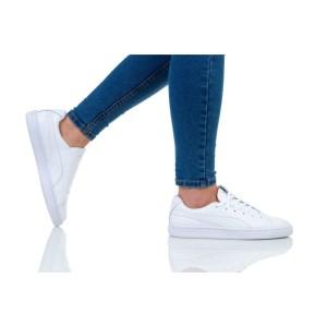 נעליים פומה לנשים PUMA BASKET CRUSH EMBOSS - לבן