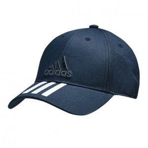 אביזרי ביגוד Adidas Originals לנשים Adidas Originals Classic Six Panel 3 Stripes Cap - כחול/לבן