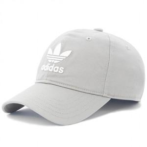 אביזרי ביגוד Adidas Originals לנשים Adidas Originals Trepoil Cap - אפור/לבן