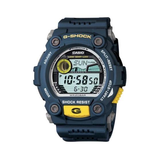 שעון קסיו ג'י-שוק לגברים CASIO G-SHOCK G79002D - כחול/צהוב