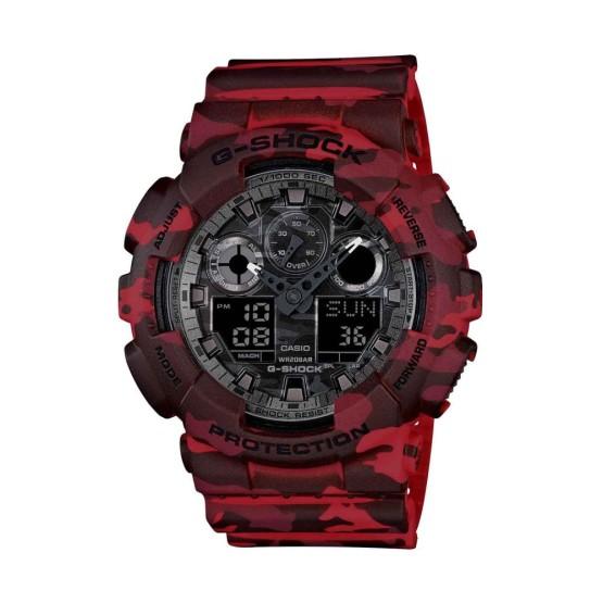 שעון קסיו ג'י-שוק לגברים CASIO G-SHOCK GA100CM4A - אדום