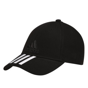 אביזרי ביגוד Adidas Originals לנשים Adidas Originals Classic Six Panel 3 Stripes Cap - שחור/לבן