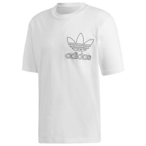 ביגוד Adidas Originals לגברים Adidas Originals Outline Trefoil Oversized - לבן