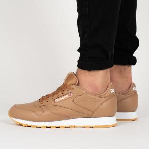 נעליים ריבוק לגברים Reebok   Leather MU - חום