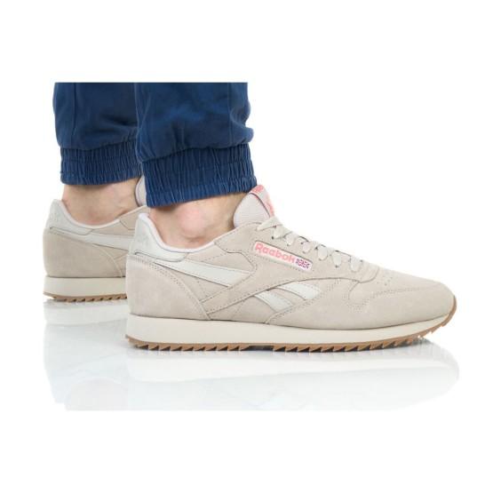 נעליים ריבוק לגברים Reebok   Leather MU - חום בהיר