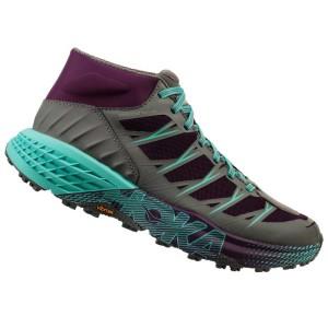 נעליים הוקה לנשים Hoka One One Speedgoat Mid WP - אפור/טורקיז