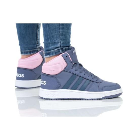 נעליים אדידס לנשים Adidas HOOPS MID 2 K - סגול/ורוד