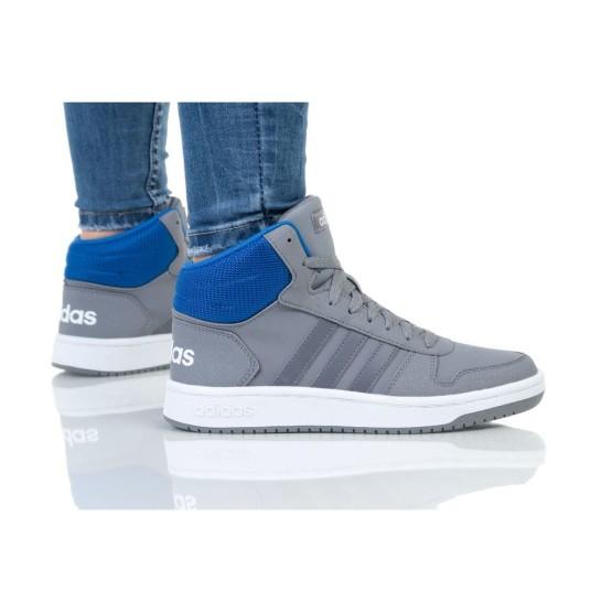נעליים אדידס לנשים Adidas HOOPS MID 2 K - אפור/כחול