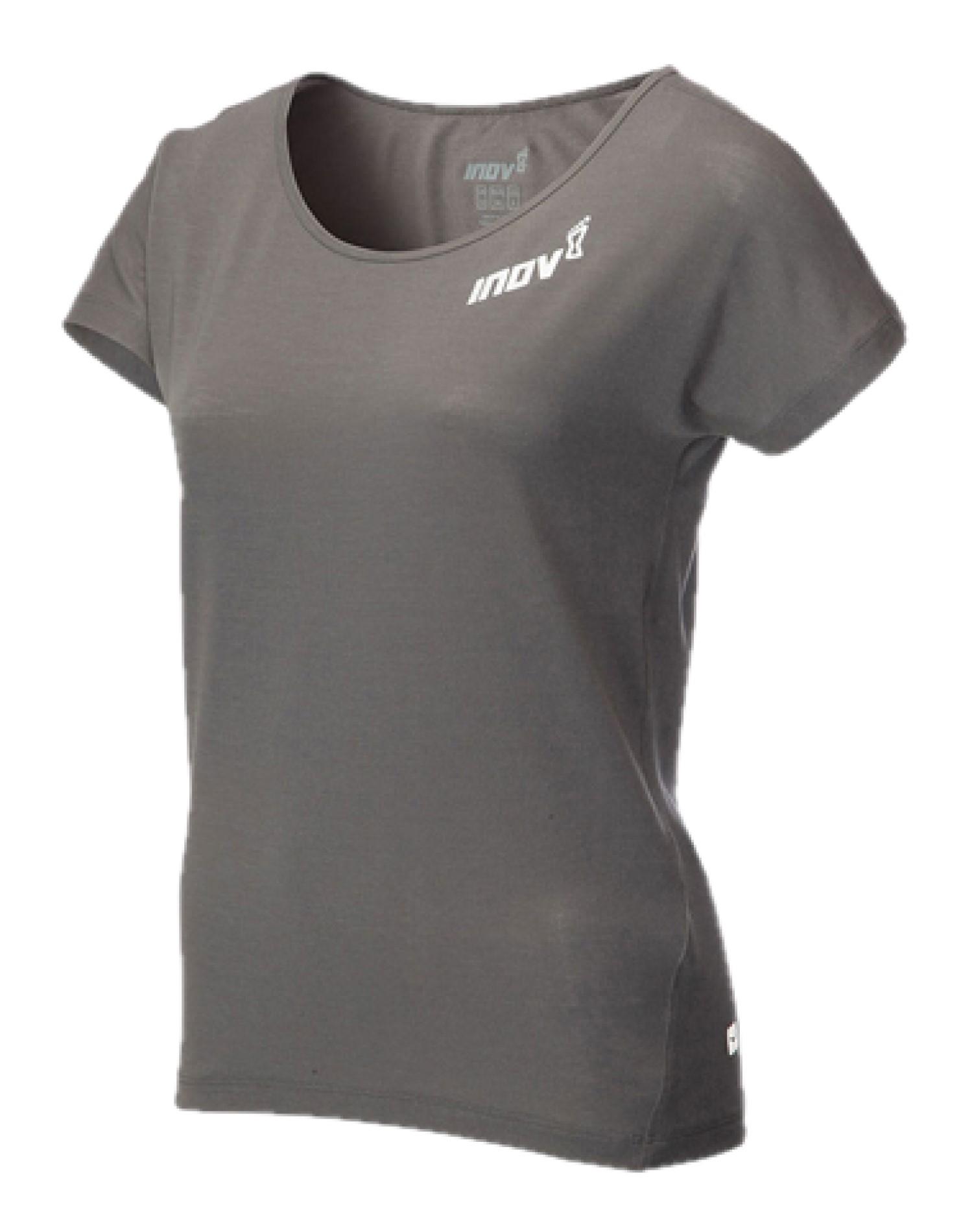 חולצת אימון אינוב 8 לנשים Inov 8 DRI RELEASE - אפור כהה