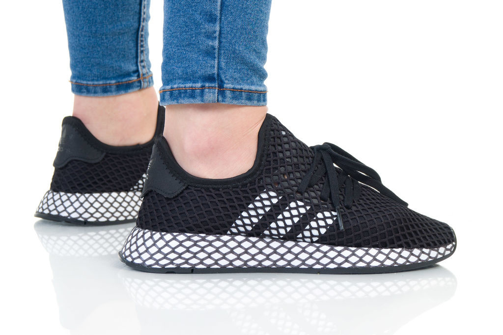 נעליים Adidas Originals לנשים Adidas Originals Deerupt Runner - שחור/לבן