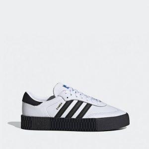 נעלי סניקרס אדידס לנשים Adidas Originals Sambarose - לבן הדפס