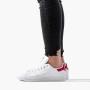 נעלי סניקרס אדידס לנשים Adidas Originals Stan Smith - לבן/ורוד
