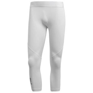 ביגוד אדידס לגברים Adidas Alphaskin Sport 3/4 - לבן