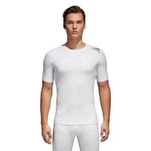 ביגוד אדידס לגברים Adidas Alphaskin Sport Tee Tall - לבן
