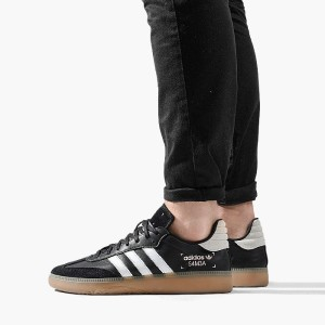 נעליים Adidas Originals לגברים Adidas Originals Samba RM - שחור/לבן