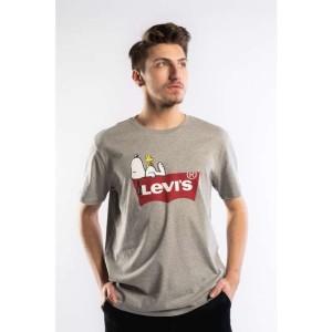 ביגוד ליוויס לגברים Levi's PEANUTS GRAPHIC TEE - אפור