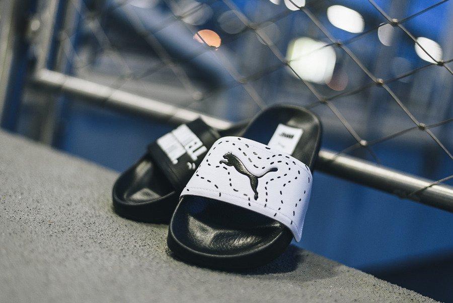 כפכפים פומה לגברים PUMA Leadcat V x Shantell Martin - שחור/לבן