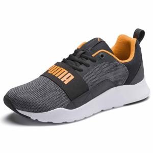 נעליים פומה לגברים PUMA Wired Knit - אפור/כתום