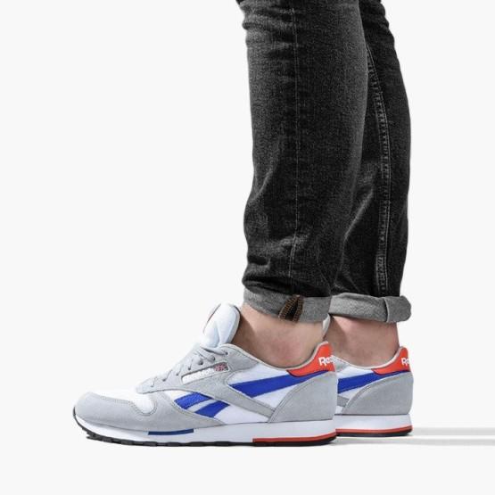 נעליים ריבוק לגברים Reebok Classic Leather - אפור/לבן