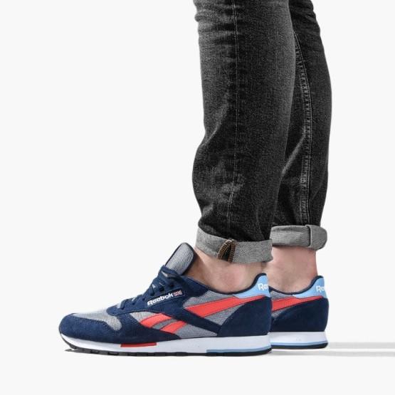 נעליים ריבוק לגברים Reebok Classic Leather - כחול/אדום