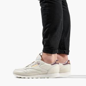 נעליים ריבוק לגברים Reebok Classic Leather - בז'