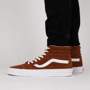 נעליים ואנס לגברים Vans Sk8-Hi Reissue - חום