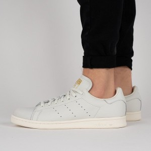 נעליים Adidas Originals לנשים Adidas Originals Stan Smith Premium - אפור בהיר
