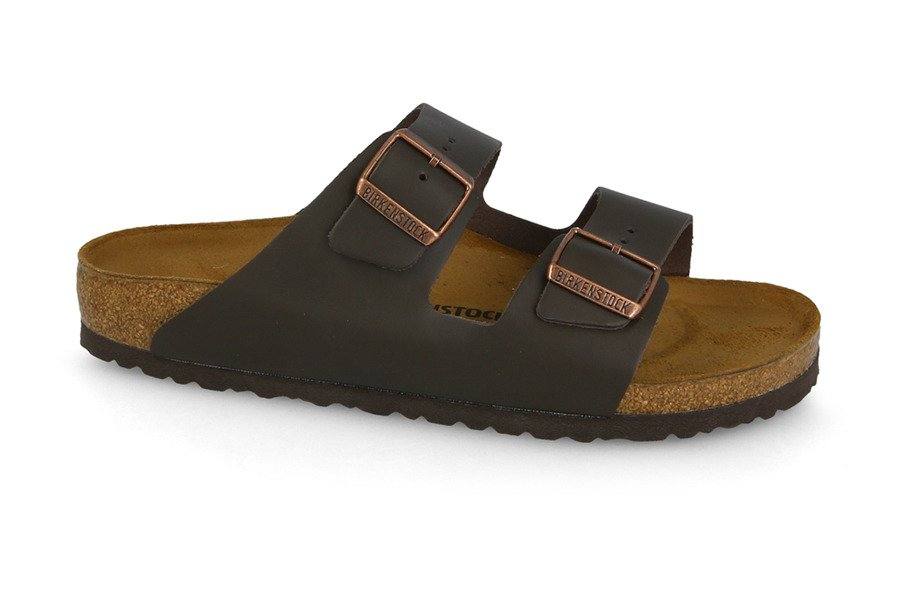 כפכפים בירקנשטוק לנשים Birkenstock Arizona - חום כהה