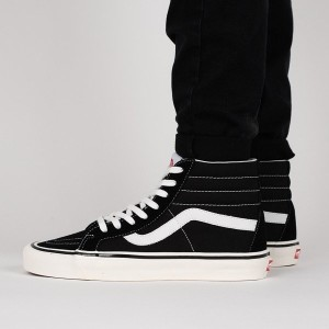 נעליים ואנס לגברים Vans Sk8-Hi 38 Dx - שחור/לבן