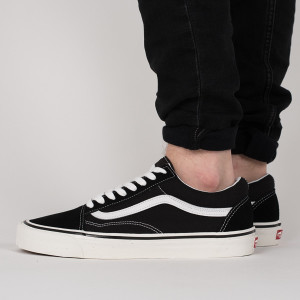 נעליים ואנס לגברים Vans Old skool - לבן/שחור