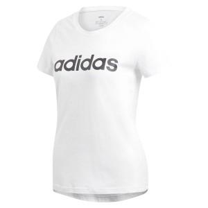 ביגוד אדידס לנשים Adidas Essentials Linear Slim - לבן