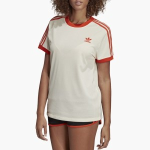 ביגוד Adidas Originals לנשים Adidas Originals 3-Stripes Tee - לבן