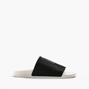נעליים Adidas Originals לנשים Adidas Originals Adilette Luxe W - לבן/שחור