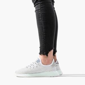 נעליים Adidas Originals לנשים Adidas Originals Deerupt Runner - לבן/אפור