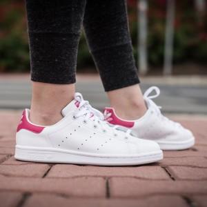 נעליים Adidas Originals לנשים Adidas Originals STAN SMITH - לבן/ורוד