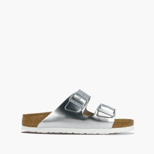 כפכפים בירקנשטוק לנשים Birkenstock Arizona - כסף
