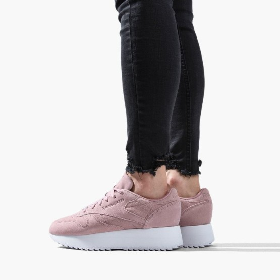 נעליים ריבוק לנשים Reebok Classic Leather Double - ורוד